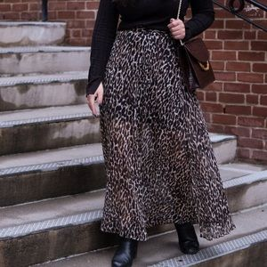 Banana Republic Leopard Maxi Skirt